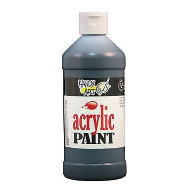 Handy Art 101-100 Acrylic Paint, 16oz, Black, 12/Pack