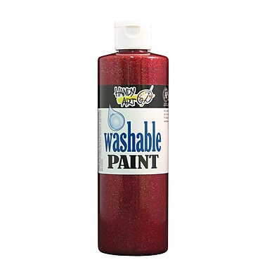 Handy Art 281-020 Washable Glitter Paint, 16oz, 12/Pack