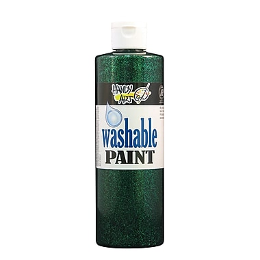 Handy Art 281-045 Washable Glitter Paint, 16oz, Green, 12/Pack
