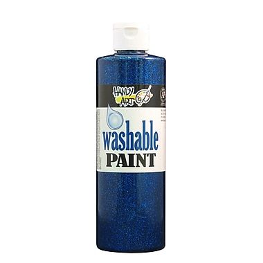 Handy Art 281-030 Washable Glitter Paint, 16oz, Blue, 12/Pack