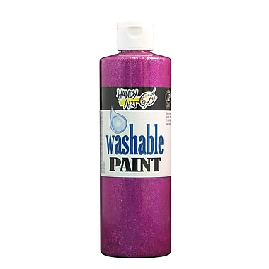Handy Art 281-025 Washable Glitter Paint, 16oz, Magenta, 12/Pack