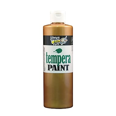Handy Art 231-163 Tempera Paint Metallic, 16oz, Bronze, 12/Pack