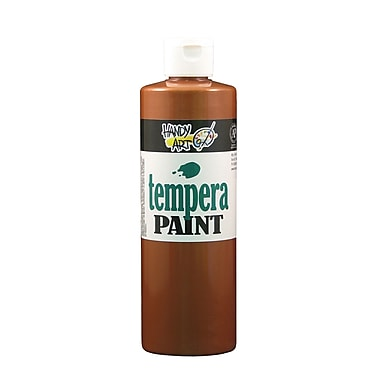 Handy Art 231-164 Tempera Paint Metallic, 16oz, Copper, 12/Pack