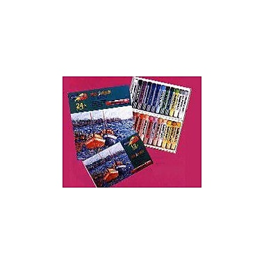 Rose OPL12 Soft Oil Pastels, Jumbo Size, 12 Pastels/Case, 12 Cases/Pack