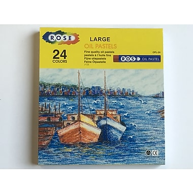 Rose OPL24 Soft Oil Pastels, Jumbo Size, 24 Pastels/Case, 6 Cases/Pack