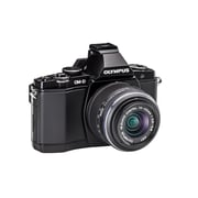 Olympus OM-D E-M5 Mirrorless Camera with 14-42mm Black Lens Kit, Black
