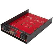 Startech.com – 4 adaptateurs de montage SATA M.2 adaptateur de montage pour baies de disques durs de 3,5 po