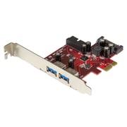 StarTech ® Carte USB 3.0 PCI Express à 4 ports, 2 externes, 2 internes, alimentation SATA