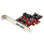 StarTech.com – Carte USB 3.0 PCI Express à 4 ports, 2 externes, 2 internes, alimentation SATA