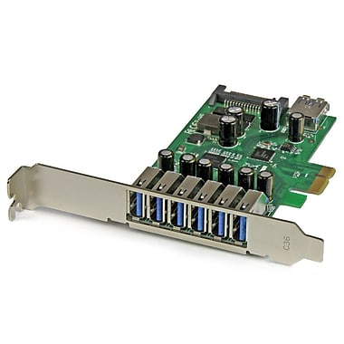 StarTech.com 7-Port PCI Express USB 3.0 Card, Standard and Low-Profile Design