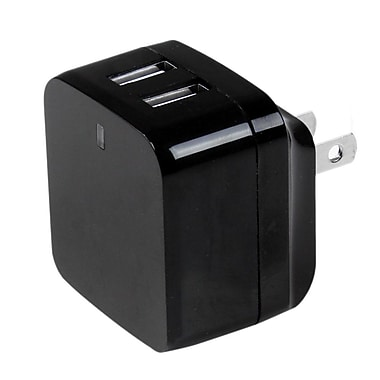 StarTech® Dual-Port USB Wall Charger, International Travel, 17W/3.4A, Black