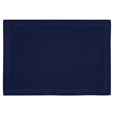 KAF Home Ribbed Placemat (Set of 4); Navy WYF078277807669