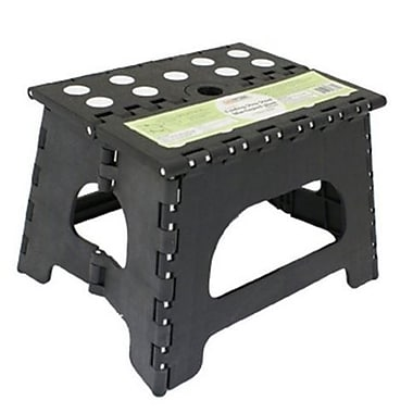 Range Kleen 1-Step Plastic Folding Step Stool w/ 300 lb Load Capacity; Black