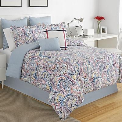 IZOD Winward Paisley Stripe Comforter Set; Full