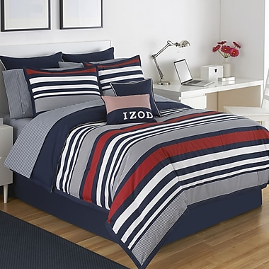 IZOD Varsity Stripe Comforter Set; Twin