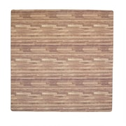 Tadpoles 4 Piece Wood Grain Playmat; Dark Oak