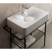 Scarabeo by Nameeks Fuji 28 inch Wall Mounted Bathroom Sink by