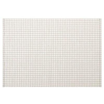 KAF Home Gingham Woven Placemat (Set of 4); Flax WYF078277807615