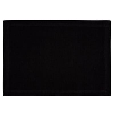 KAF Home Ribbed Placemat (Set of 4); Black WYF078277807668