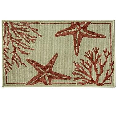 Bacova Guild Reliance Coral Starfish Area Rug