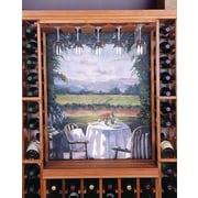 Wine Cellar Designer Series Hanging Wine Glass Rack; Unstained Premium Redwood