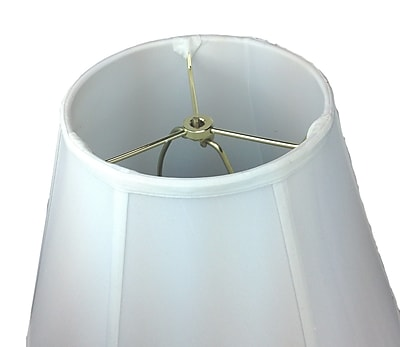 Home Concept 16'' Shantung Bell Lamp Shade; White