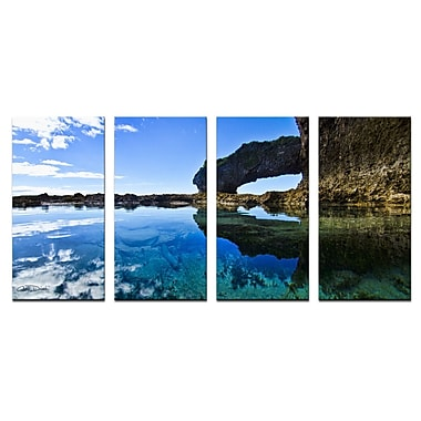 Ready2hangart 'Aqua Rocks' by Christopher Doherty 4 Piece Photographic Print on Wrapped Canvas Set