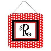 Caroline's Treasures Polka Dots by Denny Knight Graphic Art Plaque; R