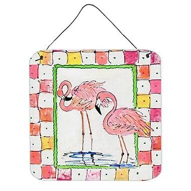 Caroline's Treasures Bird Flamingo by Sylvia Corban Painting Print Plaque