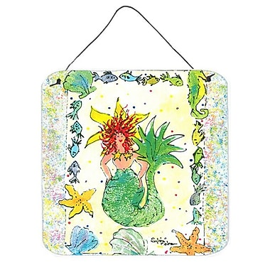 Caroline's Treasures Mermaid Painting Print Plaque
