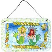 Caroline's Treasures Mermaid by Sylvia Corban Painting Print Plaque