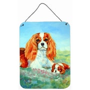 Caroline's Treasures Cavalier Spaniel Momma'S Love by Lyn Cook Painting Print Plaque