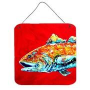 Caroline's Treasures Fish Red Fish Alphonzo Head by Martin Welch Painting Print Plaque
