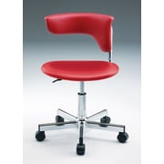 Creative Images International Desk Chair; Red