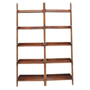 International Concepts 76'' Leaning Bookcase (Set of 2); Espresso