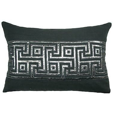 Design Accents Key Lurex Throw Pillow; Gray/Silver
