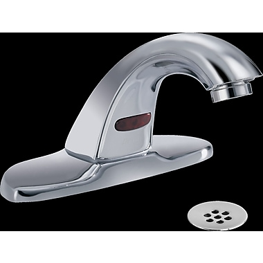 Delta Electronic Battery Lavatory Faucet w/ Grid Strainer