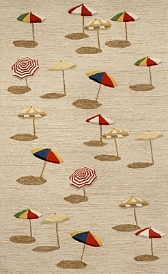 Liora Manne Frontporch Beach Umbrella Area Rug; 1'8'' x 2'6''