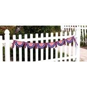 Evergreen Flag & Garden Patriotic Clothesline Banner