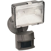 Heath-Zenith Motion Activated 1-Light Flood Light; Bronze Finish