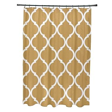 e by design French Quarter Geometric Print Shower Curtain; Dijon