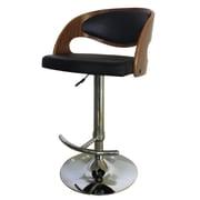 Creative Images International Adjustable Height Bar Stool; Ivory