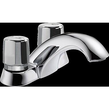 Delta Metering Two Handle Self-Closing Bathroom Faucet