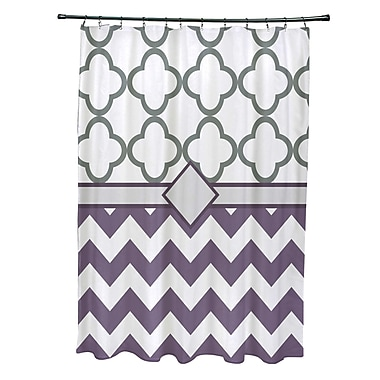 e by design Express Line Geometric Print Shower Curtain; Larkspur