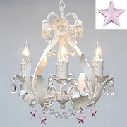 Harrison Lane Floral 4-Light Crystal Chandelier