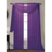 Window Elements Diamond Curtain Sheer Single Panel Scarf; Purple