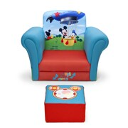 Delta Children Mickey Mouse Upholstered Kids Club Chair and Ottoman
