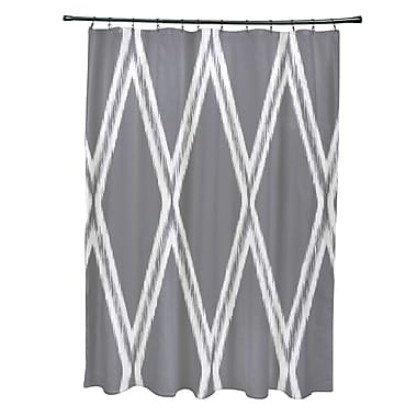 e by design Gate Keeper Shower Curtain; Classic Gray