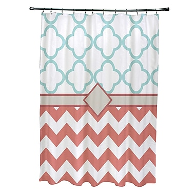 e by design Express Line Geometric Print Shower Curtain; Seed