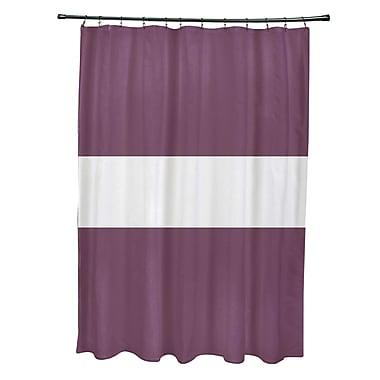 e by design Narrow the Gap Stripe Print Shower Curtain; Plum